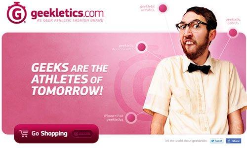 Geekletics-传导网络-粉色系网页设计