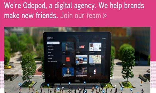 Odopod-传导网络-粉色系网页设计