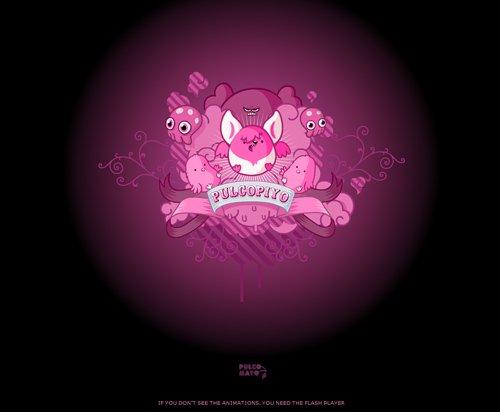 Pulcopiyo-传导网络-粉色系网页设计