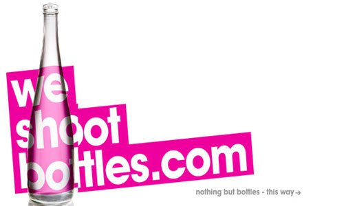 We Shoot Bottles-传导网络-粉色系网页设计