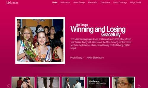 Lizlance-传导网络-粉色系网页设计