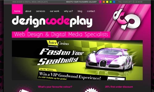 Design Code Play-传导网络-粉色系网页设计