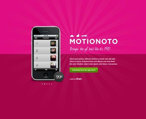 Motionoto-传导网络-粉色系网页设计
