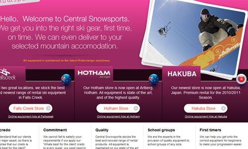 Central Snowsports-传导网络-粉色系网页设计