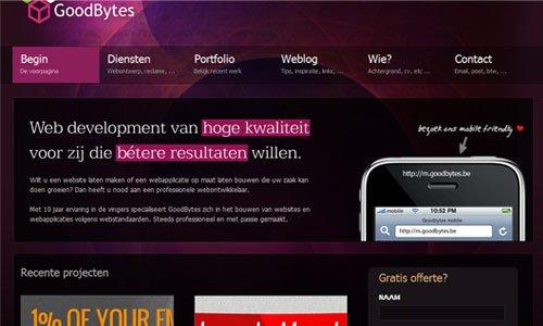 Goodbytes-传导网络-粉色系网页设计