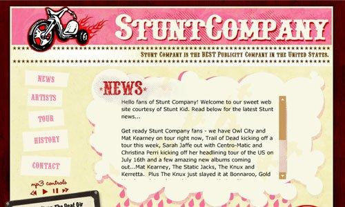 Stunt Company-传导网络-粉色系网页设计