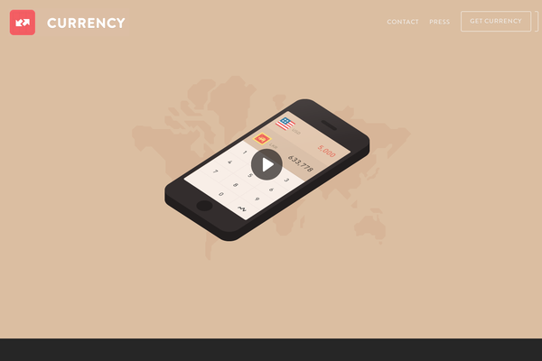 Currency Converter App-传导网络-APP设计案例