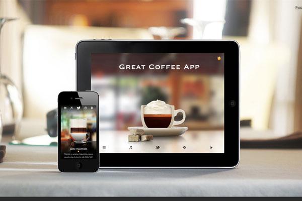 Great Coffee App-传导网络-扁平化风格设计